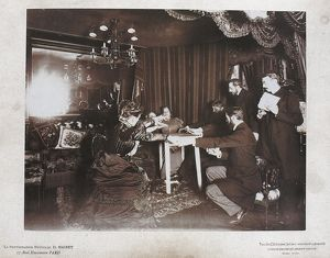 PARIS: FANCE, 1898. Seance with Eusapia Palladino at the home of Camille Flammarion