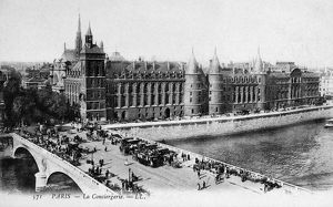 PARIS: LA CONCIERGERIE. La Conciergerie, a former royal palace and prison, at Paris, France