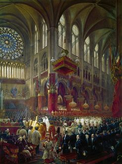 PARIS: NOTRE DAME, 1841. The Baptism of the Count of Paris at Notre Dame