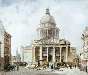 PARIS: PANTHEON, 1835. The Pantheon in the Latin Quarter of Paris, France, completed in 1789