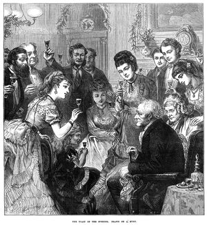 PARTY: TOAST, 1872. 'The Toast of the Evening