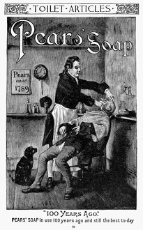 PEARS' SOAP AD, 1888. American magazine advertisement, 1888.
