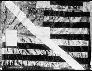 PEARY'S EXPEDITION. The American flag, raised after Peary's expedition to