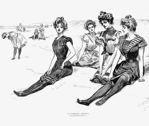 Pen-and-ink drawing by Charles Dana Gibson.