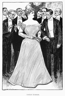 Pen and ink drawing, 1899, by Charles Dana Gibson.