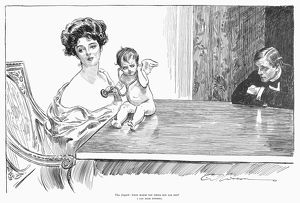 Pen and ink drawing, 1901, by Charles Dana Gibson.