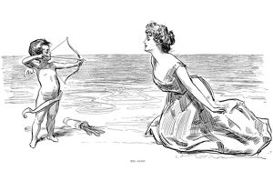 Pen and ink drawing by Charles Dana Gibson, 1900.