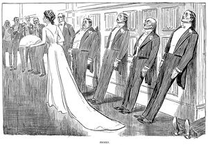 Pen and ink drawing by Charles Dana Gibson, 1902.