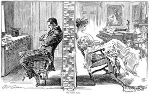 Pen and ink drawing by Charles Dana Gibson, 1903.