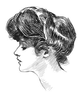 Pen and ink drawing by Charles Dana Gibson, c1904.