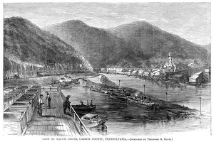 PENNSYLVANIA: MAUCH CHUNK. View of the mining town of Mauch Chunk, Pennsylvania