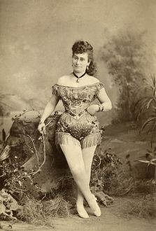 PERFORMER, c1880. Portrait of an unidentified performer, probably for a circus, c1880