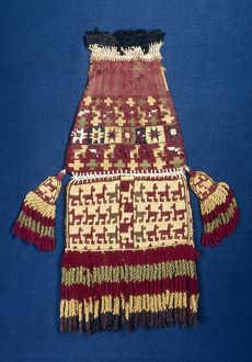 PERU: NAZCA POUCH. Woven pouch from the Nazca civillization of southern Peru, c200 B
