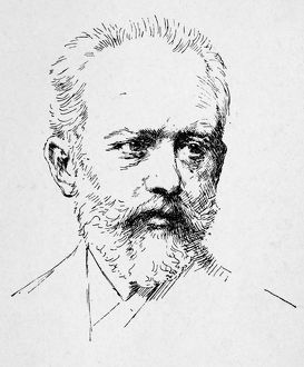 PETER ILICH TCHAIKOVSKY (1840-1893). Russian composer. Etching.
