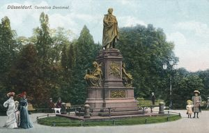 PETER VON CORNELIUS. Memorial to German painter Peter von Cornelius (1783-1867) in