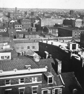 PHILADELPHIA, 1856. View of Philadelphia from the steeple of Independence Hall