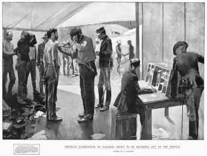 PHYSICAL EXAMINATION, 1898. Physical examination of soldiers before they are discharged