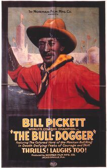 BILL PICKETT (1870-1932). The cowboy star in an American poster for the 1923 film