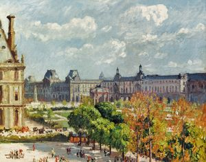 PISSARRO: CARROUSEL, 1900. Camille Pissarro: Place de Carrousel at the Tuilleries