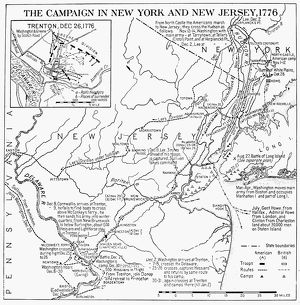 Plan of the campaign in New York and New Jersey during the American Revolutionary War