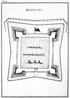 Plan of a typical British redoubt at the time of the American Revolutionary War