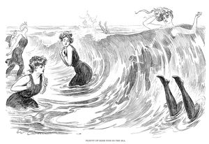 'Plenty of good fish in the sea.' Pen-and-ink drawing, by Charles Dana Gibson