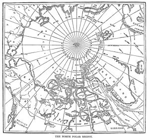 POLAR EXPEDITIONS, 1873. Map showing the route of the 'Polaris' expedition led