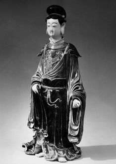 Porcelain figure of the bodhisattva Guanyin. Ming Dynasty, 1368-1644.