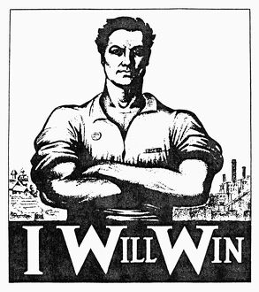 Poster for the Industrial Workers of the World from an American labor newspaper of 1917.