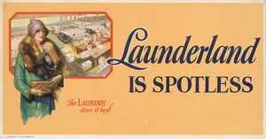 POSTER: LAUNDRY, 1928. 'Launderland is spotless
