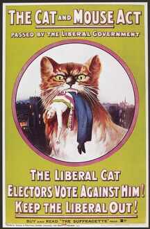 POSTER: WOMEN'S RIGHTS. 'The Cat and Mouse Act