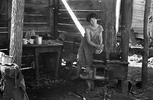 whats new/poverty lean to 1936 twelve year old girl cooking