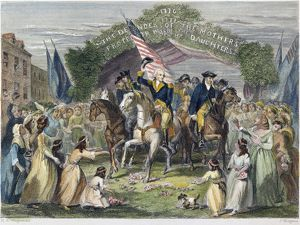 President-elect George Washington's reception at Trenton, New Jersey, 21 April 1789