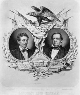 presidents/presidential campaign 1860 lithograph campaign