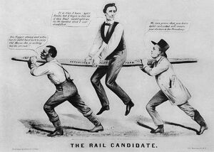 presidents/presidential campaign 1860 the rail candidate