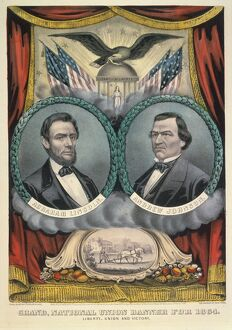 PRESIDENTIAL CAMPAIGN, 1864. Abraham Lincoln and Andrew Johnson as the National Union