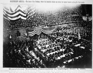 PRESIDENTIAL CAMPAIGN, 1880. Republican National Convention in Chicago, Illinois