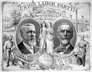 PRESIDENTIAL CAMPAIGN, 1888. Alson J. Streeter and Charles E