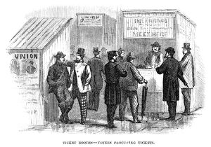 presidents/presidential election 1864 voters procuring