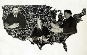 presidents/presidential map c1912 photomontage presidents