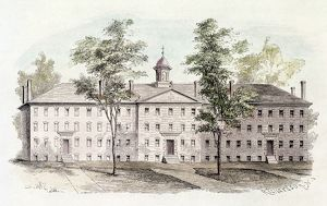 PRINCETON COLLEGE, 1760. Nassau Hall at the College of New Jersey at Princeton