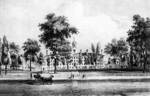 PRINCETON COLLEGE, 1837. The College of New Jersey at Princeton. Lithograph, 1837