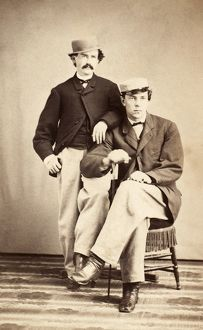 PRINCETON: STUDENTS, 1866. Two undergraduates of Princeton University
