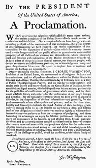 Proclamation, 1795, by George Washington of 'a Day of Public Thanksgiving.'