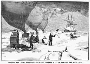 Proposed plan for reaching the North Pole by balloon