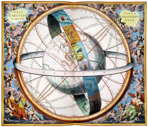 astronomy/ptolemaic universe 1660 depiction ptolemaic