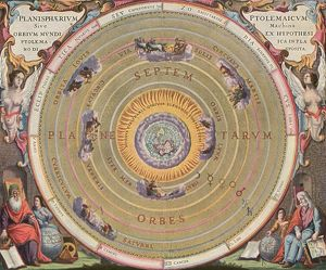 PTOLEMAIC UNIVERSE, 1660. Representation of the Ptolemaic World System