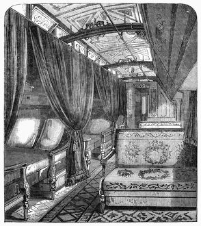 PULLMAN CAR, 1869. The Pullman Sleeper Car of the Union Pacific Railway. Wood engraving