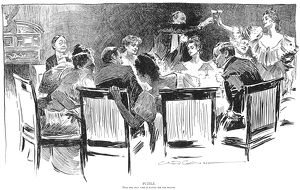 charles dana gibson/puzzle man who paying dinner drawing 1894