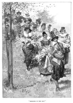 PYLE: MAY DAY. 'Bringing in the May.' Engraving after a drawing by Howard Pyle